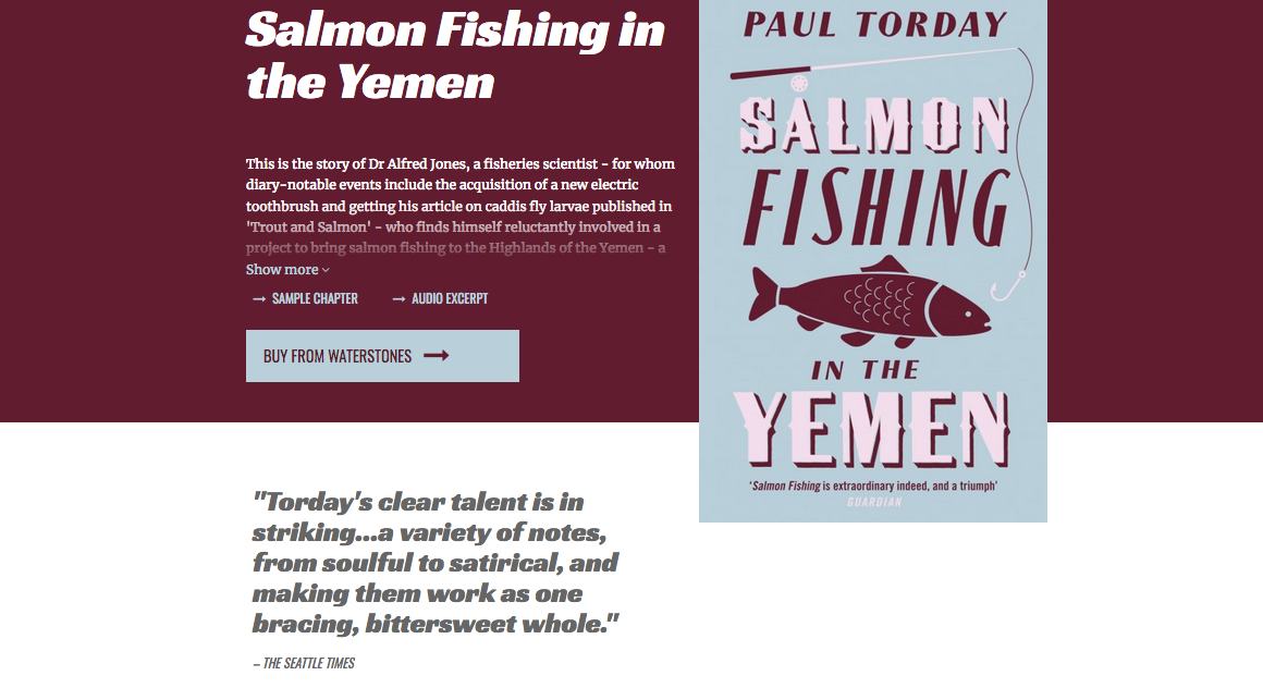 Paul Torday Salmon Fishing screengrab